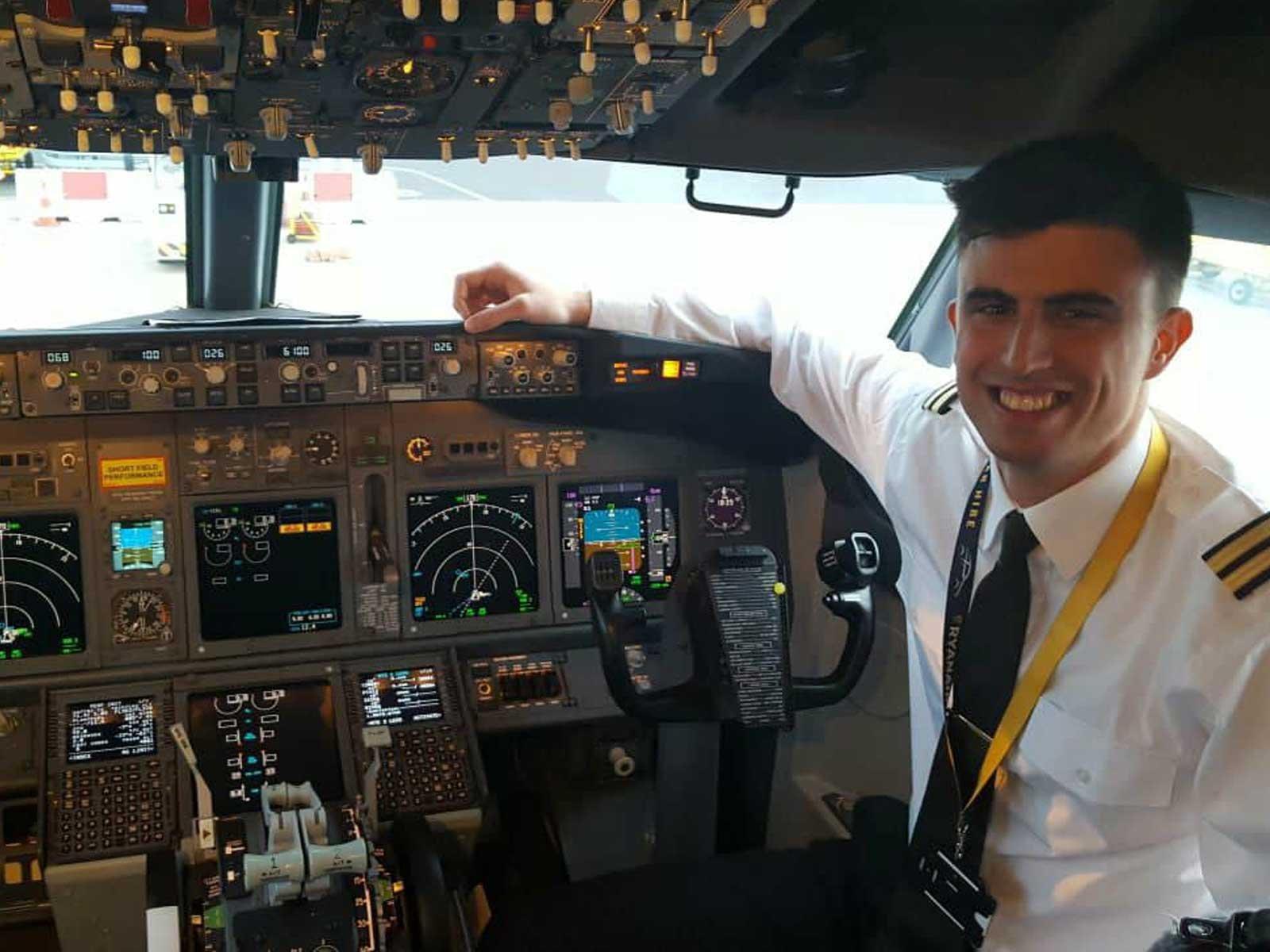 Alessandro pilot for Ryanair
