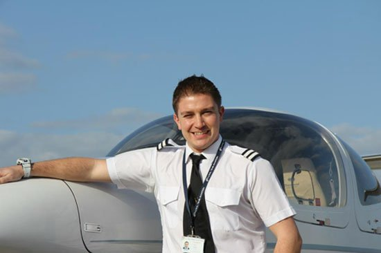 FTA Graduate Michael Weeks, now flying as a First Officer at Monarch Airlines