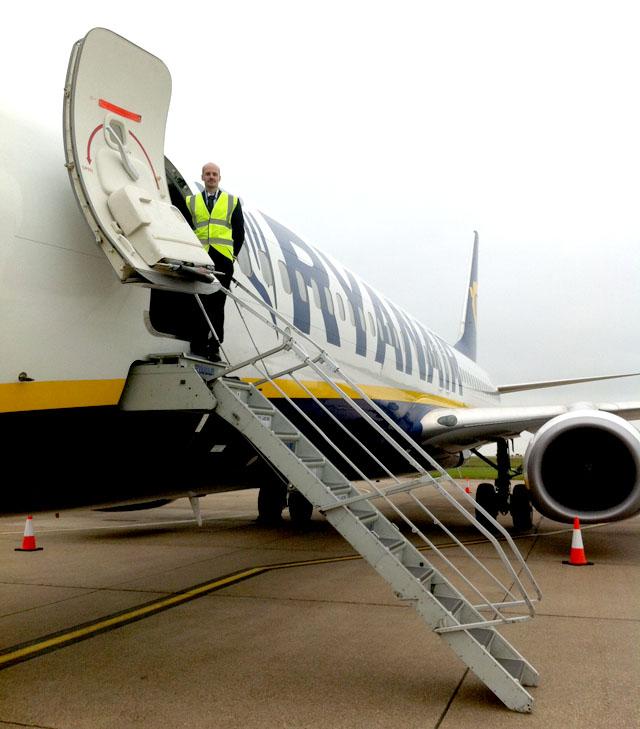 Former FTA Student Tom at Ryanair