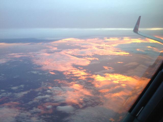 In flight photo - Bharat's pilot story