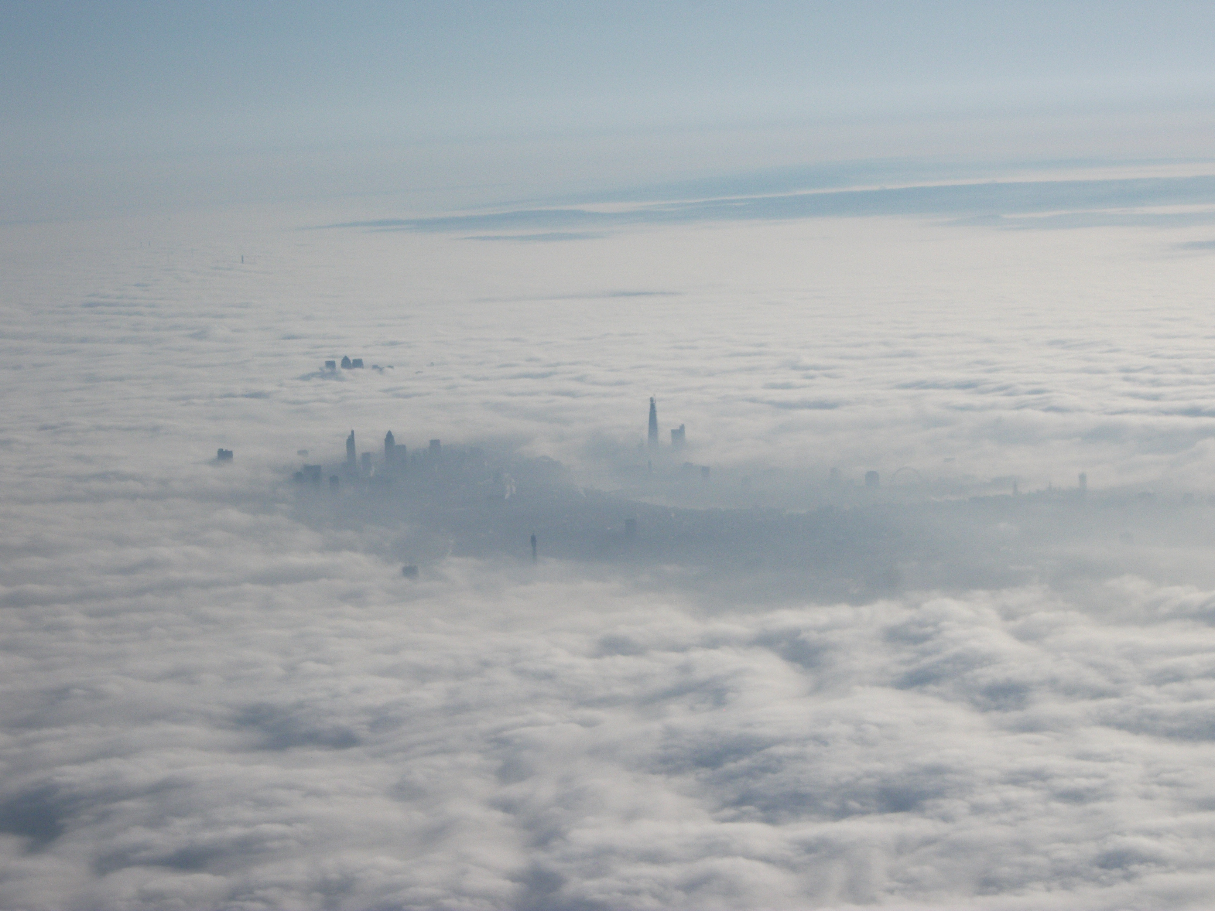 London Fog From Aircraft