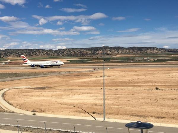 Airliner at Teruel Airport